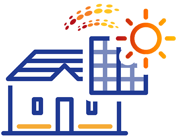 A drawing of residential solar panels in Phoenix, AZ
